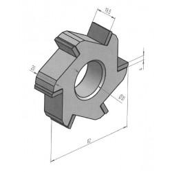 Fraise au carbure de tungstène 6 pointes / 80x22 mm