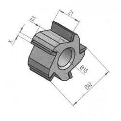Fraise au carbure de tungstène 5 pointes / 40x22 mm