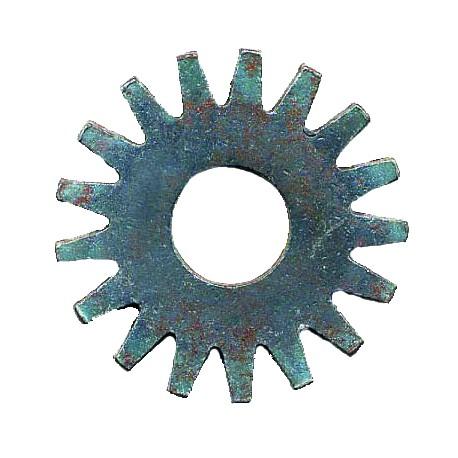 Molette en acier traité 17 pointes / 60 mm