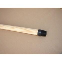Punho de madeira de 1,40 m x 20 mm para escova soquete