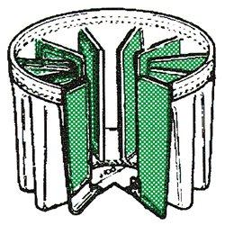 Schéma du filtre à poches