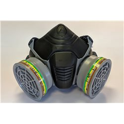 Masque anti-poussières et gaz acides avec 2 cartouches